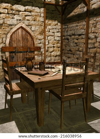 medieval table stock images, royalty-free images & vectors