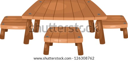 table and chairs . jpg (EPS vector version id 126058892,format also available in my portfolio) - stock photo
