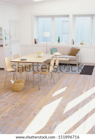 table and sofa - stock photo