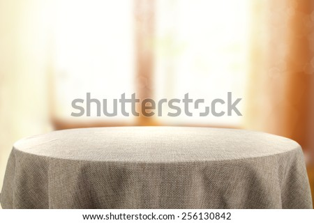 table and window of sun light  - stock photo