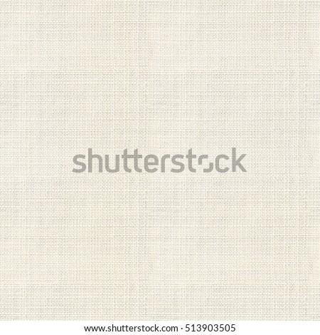 Table Cloth Textile Background: Seamless Cream Japanese Linen Burlap  Texture.