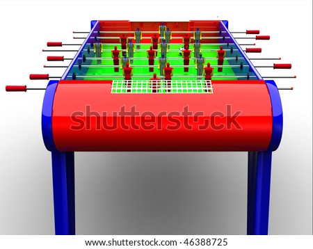 Table football / foosball soccer game - stock photo