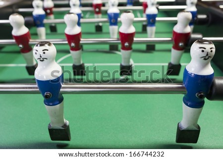Table football game - stock photo