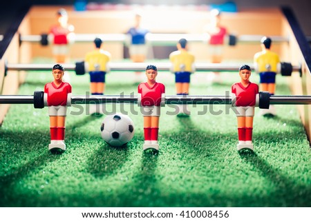 table football game, abstract light - stock photo