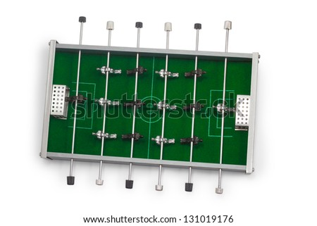 table football game is isolated board game - stock photo