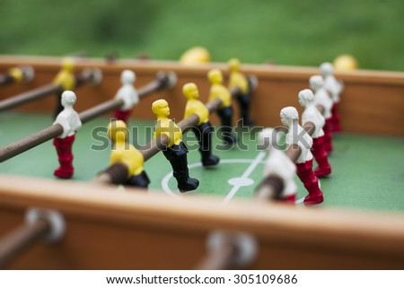 table football players - stock photo
