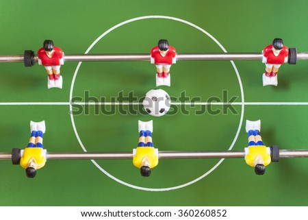 Table football. Selective focus image - stock photo