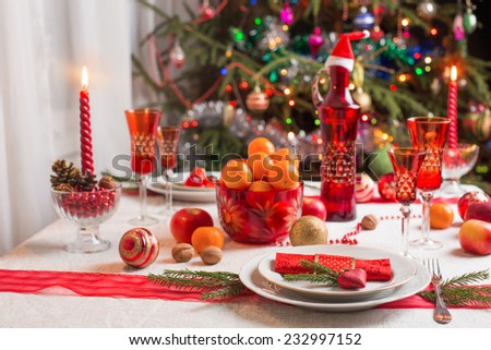 table for Christmas Eve