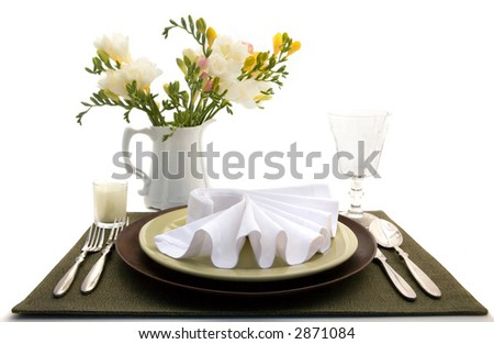 Table for One - stock photo