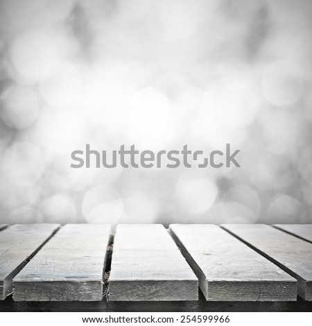Table for picnic in holiday bokeh - stock photo