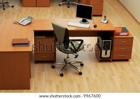 Table for work at modern and beautiful office - stock photo