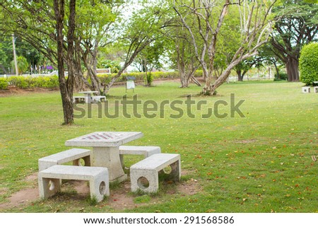 table in the park