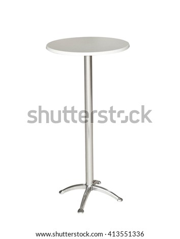 table isolated on white background with clipping path - stock photo