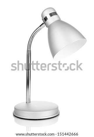 Table lamp isolated on white - stock photo