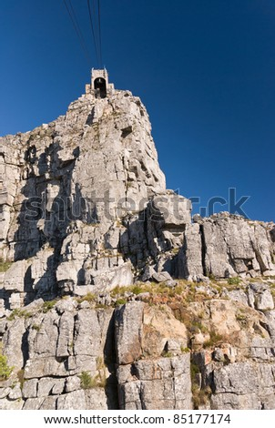 Table Mountain cable car station - stock photo
