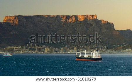 Table Mountain Cape Town, South Africa. - stock photo