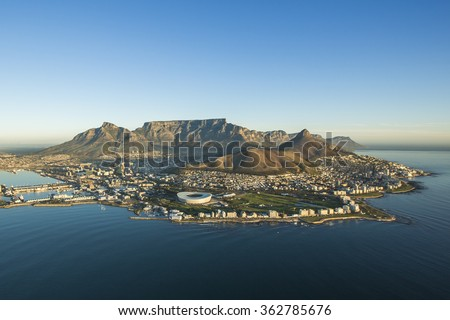 Table Mountain Capetown South Africa - stock photo