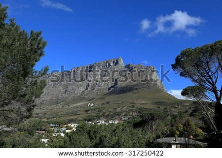 Table Mountain near Cape Town in South Africa