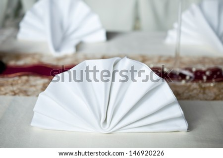 table napkin - stock photo