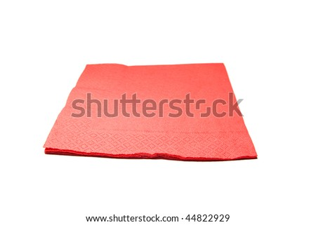 table napkin on white