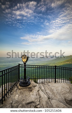 Table Rock State Park SC Sightseeing Landscape from Caesars Head State Park in upstate South Carolina - stock photo