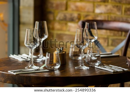 table set restaurant
