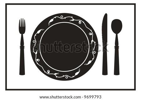 Table setting for a meal - stock photo