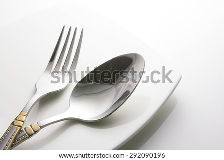 table setting of the fork and spoon