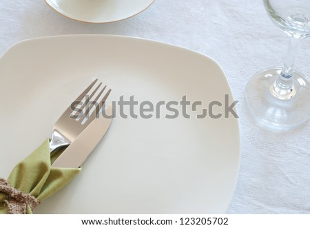 Table settings - stock photo