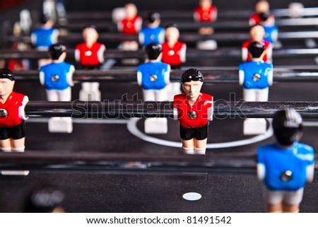 table soccer - stock photo