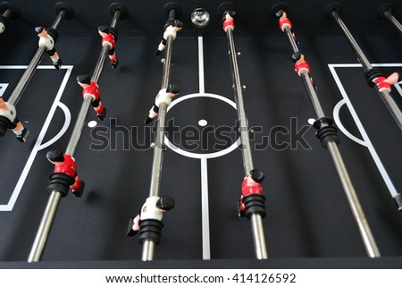 Table soccer football game detail - stock photo