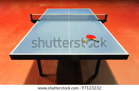 Table - Table tennis - ping pong - stock photo