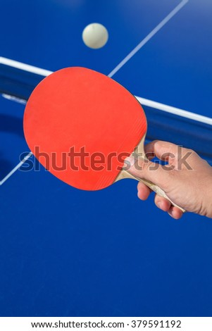 table tennis drop shot - stock photo