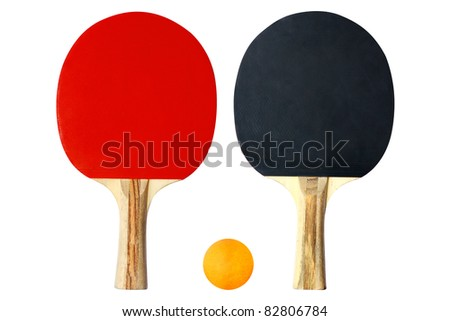 Table Tennis Racket - stock photo