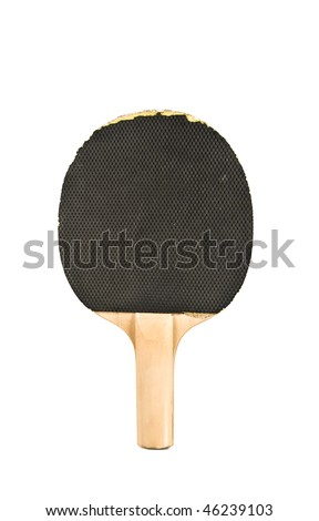 Table tennis racket isolated on white - stock photo