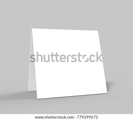 Table Tent Card Blank White D Stock Illustration - Table tent card stock