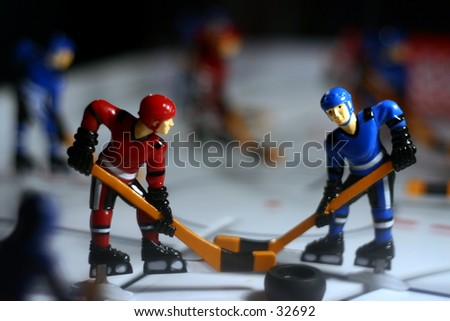 Table top hockey - stock photo
