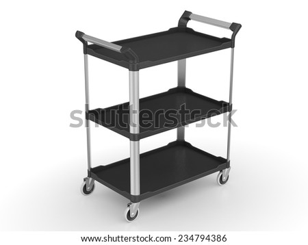 Table trolley - stock photo