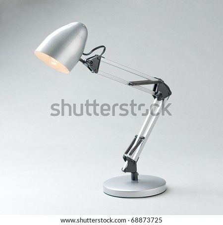 Table type lamp for night reading and working an image isolated