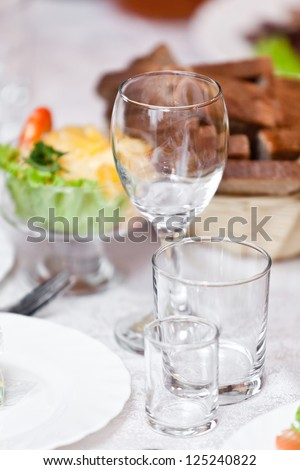 Table wine glasses for wine