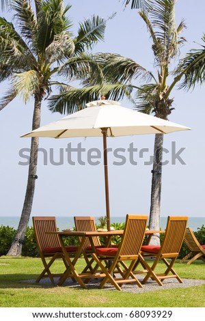Table with a beautiful sea view