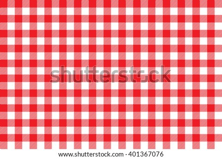 Tablecloth background red seamless pattern.Illustration of traditional gingham dining cloth with fabric texture. Checkered picnic cooking tablecloth. - stock photo