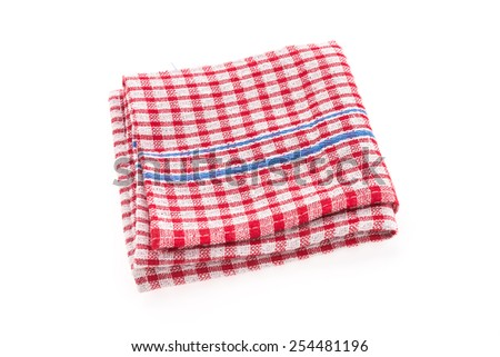 Tablecloth isolated on white background
