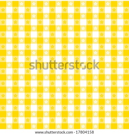 Tablecloth Pattern, classic design in gold and white for picnics, restaurants, bistros, decorating, arts, crafts, scrapbooks.   - stock photo