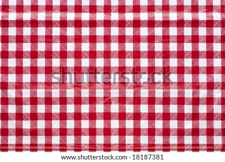 Tablecloth texture- red checked classic picnic or cafe design motif style