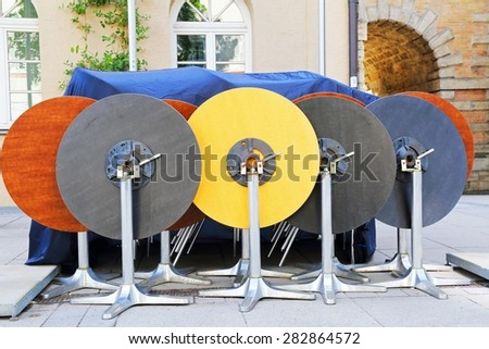 Tables - stock photo