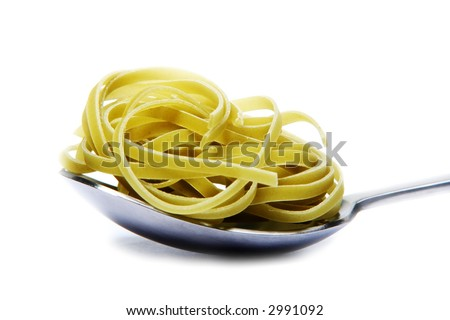 Tablespoon with Pasta - stock photo