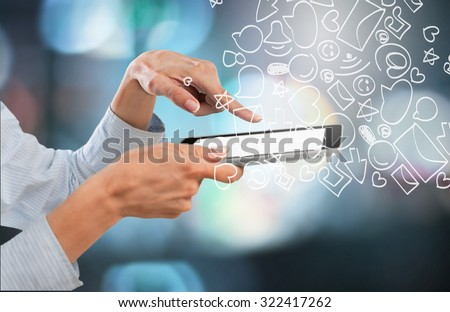 Tablet. - stock photo