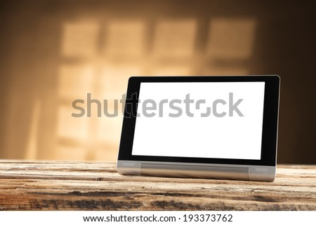 tablet and desk  - stock photo