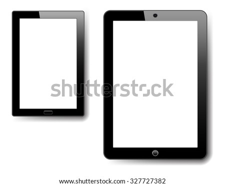 Tablet and Notebook - Raster Version - stock photo